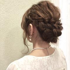 ヘアアレンジ 大人女子 セミロング 外国人風 ヘアスタイルや髪型の写真・画像