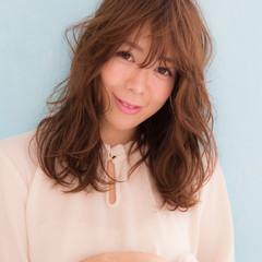 ゆるふわ フェミニン ロング かわいい ヘアスタイルや髪型の写真・画像