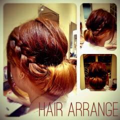 ヘアアレンジ 簡単ヘアアレンジ ショート 編み込み ヘアスタイルや髪型の写真・画像
