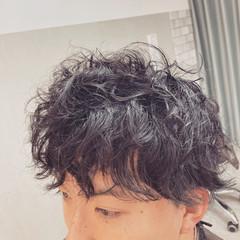 ショート メンズパーマ ショートヘア メンズショート ヘアスタイルや髪型の写真・画像