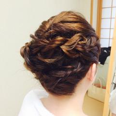 ブライダル 編み込み 結婚式 着物 ヘアスタイルや髪型の写真・画像