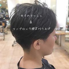 刈り上げ女子 ショートヘア マッシュ ショート ヘアスタイルや髪型の写真・画像