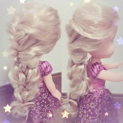 ヘアアレンジ セミロング 結婚式 ディズニー ヘアスタイルや髪型の写真・画像