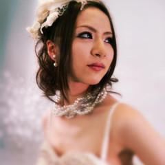 ロング ヘアアレンジ 結婚式 ブライダル ヘアスタイルや髪型の写真・画像