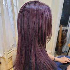 モード ブリーチオンカラー バイオレット ブリーチ必須 ヘアスタイルや髪型の写真・画像