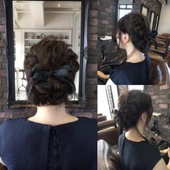 ヘアアレンジ パーティ ミディアム 結婚式 ヘアスタイルや髪型の写真・画像