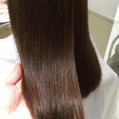 トリートメント 縮毛矯正 パーマ セミロング ヘアスタイルや髪型の写真・画像