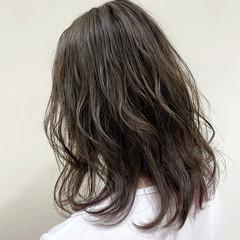 ナチュラル 透明感カラー イルミナカラー ミディアム ヘアスタイルや髪型の写真・画像