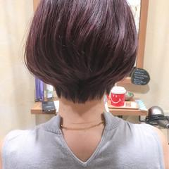 暗髪 ショート 外国人風 ボブ ヘアスタイルや髪型の写真・画像