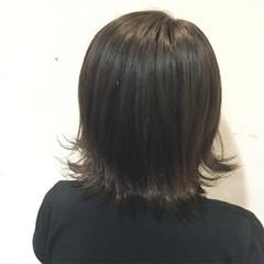 ボブ ガーリー 外ハネ 暗髪 ヘアスタイルや髪型の写真・画像