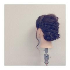 セミロング ゆるふわ フェミニン ヘアアレンジ ヘアスタイルや髪型の写真・画像