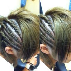 ヘアアレンジ 編み込み 子供 コーンロウ ヘアスタイルや髪型の写真・画像