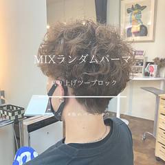 ストリート メンズパーマ ツーブロック メンズスタイル ヘアスタイルや髪型の写真・画像