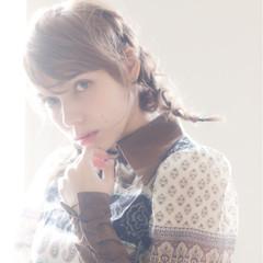 ナチュラル ショート 外国人風 編み込み ヘアスタイルや髪型の写真・画像