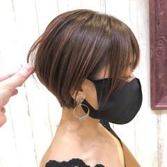 ショート 簡単 お手入れ簡単!! ナチュラル ヘアスタイルや髪型の写真・画像