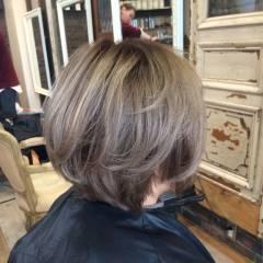 グラデーションカラー アッシュ ストリート 黒髪 ヘアスタイルや髪型の写真・画像