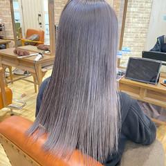 グレー ガーリー ブリーチ ブリーチオンカラー ヘアスタイルや髪型の写真・画像