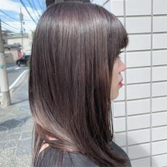 ストリート 脱縮毛矯正 ツヤツヤ ロング ヘアスタイルや髪型の写真・画像