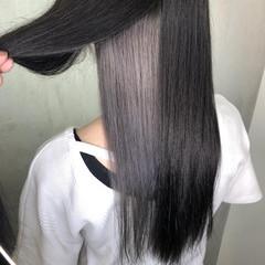 グレー ストリート アッシュグレージュ 切りっぱなしボブ ヘアスタイルや髪型の写真・画像
