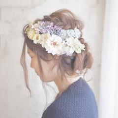 大人かわいい 外国人風 簡単ヘアアレンジ セミロング ヘアスタイルや髪型の写真・画像