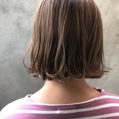 ウェット感 ボブ パーマ 透明感カラー ヘアスタイルや髪型の写真・画像
