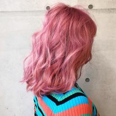 ストリート ベリーピンク 外国人風カラー ベージュ ヘアスタイルや髪型の写真・画像