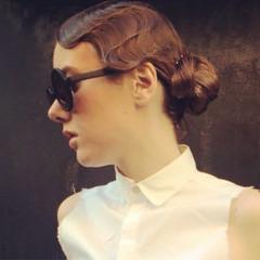 外国人風 ウェーブ ピュア ヘアアレンジ ヘアスタイルや髪型の写真・画像