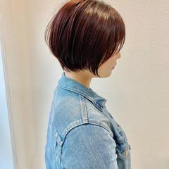 ベリーショート ショートヘア ショートボブ ガーリー ヘアスタイルや髪型の写真・画像