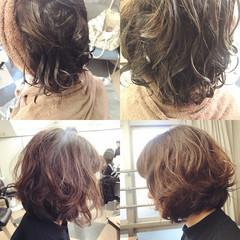 パーマ ふわふわ 外国人風 ナチュラル ヘアスタイルや髪型の写真・画像