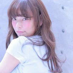 ロング おフェロ ガーリー 大人かわいい ヘアスタイルや髪型の写真・画像