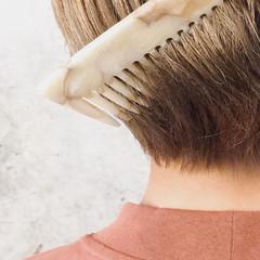ショート ハンサムショート ガーリー ミルクティーベージュ ヘアスタイルや髪型の写真・画像