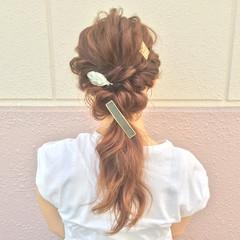大人女子 ロング ゆるふわ 簡単ヘアアレンジ ヘアスタイルや髪型の写真・画像