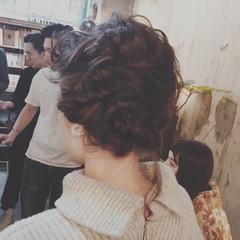 ヘアアレンジ 外国人風 アッシュ ミディアム ヘアスタイルや髪型の写真・画像