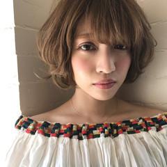 ハイライト アンニュイ 簡単ヘアアレンジ ウェーブ ヘアスタイルや髪型の写真・画像