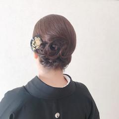 黒留袖 和装 着物 和服 ヘアスタイルや髪型の写真・画像