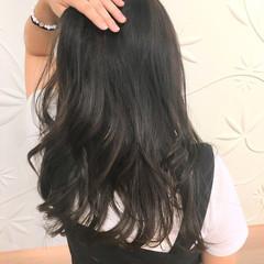 セミロング エレガント 透明感 秋 ヘアスタイルや髪型の写真・画像
