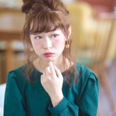 ミディアム フェミニン ガーリー 外国人風 ヘアスタイルや髪型の写真・画像