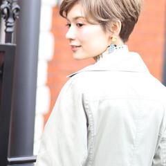 デジタルパーマ パーマ ショートヘア ショートボブ ヘアスタイルや髪型の写真・画像