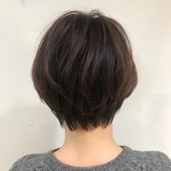 ミニボブ ハンサムショート ショートボブ マッシュショート ヘアスタイルや髪型の写真・画像