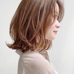 デジタルパーマ ナチュラル アンニュイほつれヘア モテボブ ヘアスタイルや髪型の写真・画像