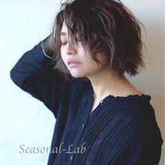 外国人風 暗髪 ダークアッシュ モード ヘアスタイルや髪型の写真・画像