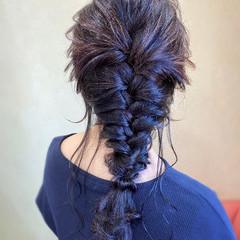 ヘアアレンジ エレガント 結婚式 編みおろし ヘアスタイルや髪型の写真・画像