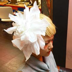 フェミニン ヘアメイク ヘアアレンジ 外国人風 ヘアスタイルや髪型の写真・画像