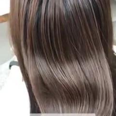 髪質改善 ナチュラル 縮毛矯正 ツヤ髪 ヘアスタイルや髪型の写真・画像