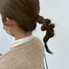 お団子アレンジ セルフアレンジ ロブ ナチュラル ヘアスタイルや髪型の写真・画像