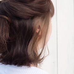 ボブ ストリート ブリーチオンカラー インナーカラーグレージュ ヘアスタイルや髪型の写真・画像