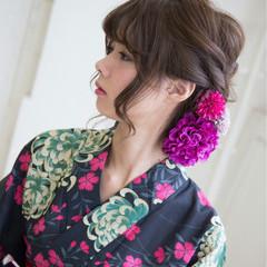 和装 花火大会 夏 まとめ髪 ヘアスタイルや髪型の写真・画像