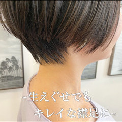 ミニボブ ベリーショート ハンサムショート ショートヘア ヘアスタイルや髪型の写真・画像