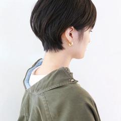 ストリート ショート 黒髪ショート ベリーショート ヘアスタイルや髪型の写真・画像