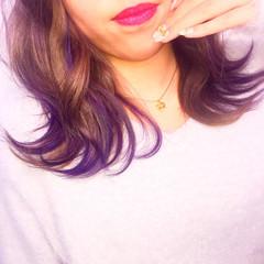 ミディアム ゆるふわ アッシュ 渋谷系 ヘアスタイルや髪型の写真・画像